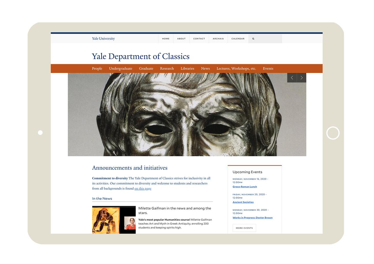 Yale University Department of Classics website