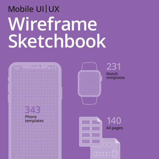 Mobile UI/UX Wireframe Sketchbook